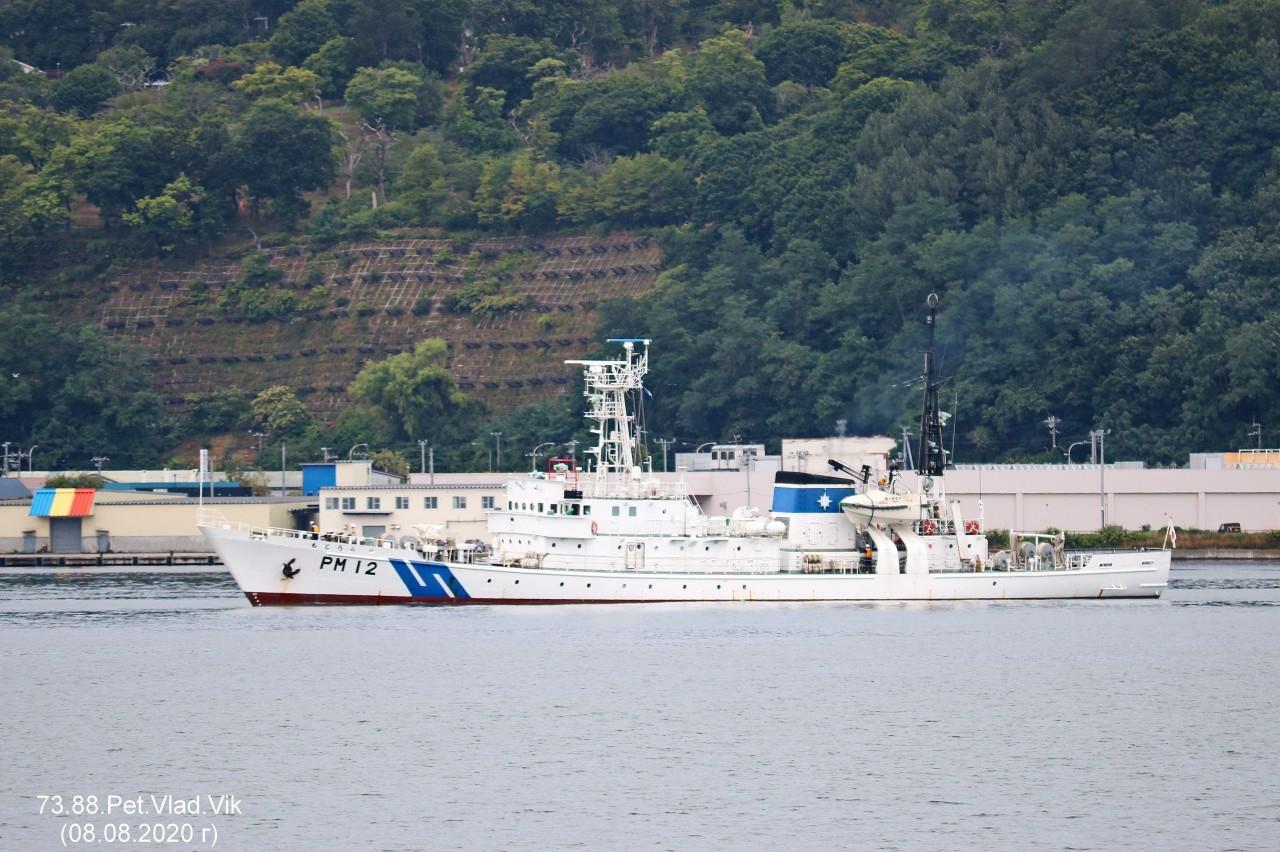7388PetVladVik: Береговая охрана  Японии.  (PM-12).   Порт  Отару.