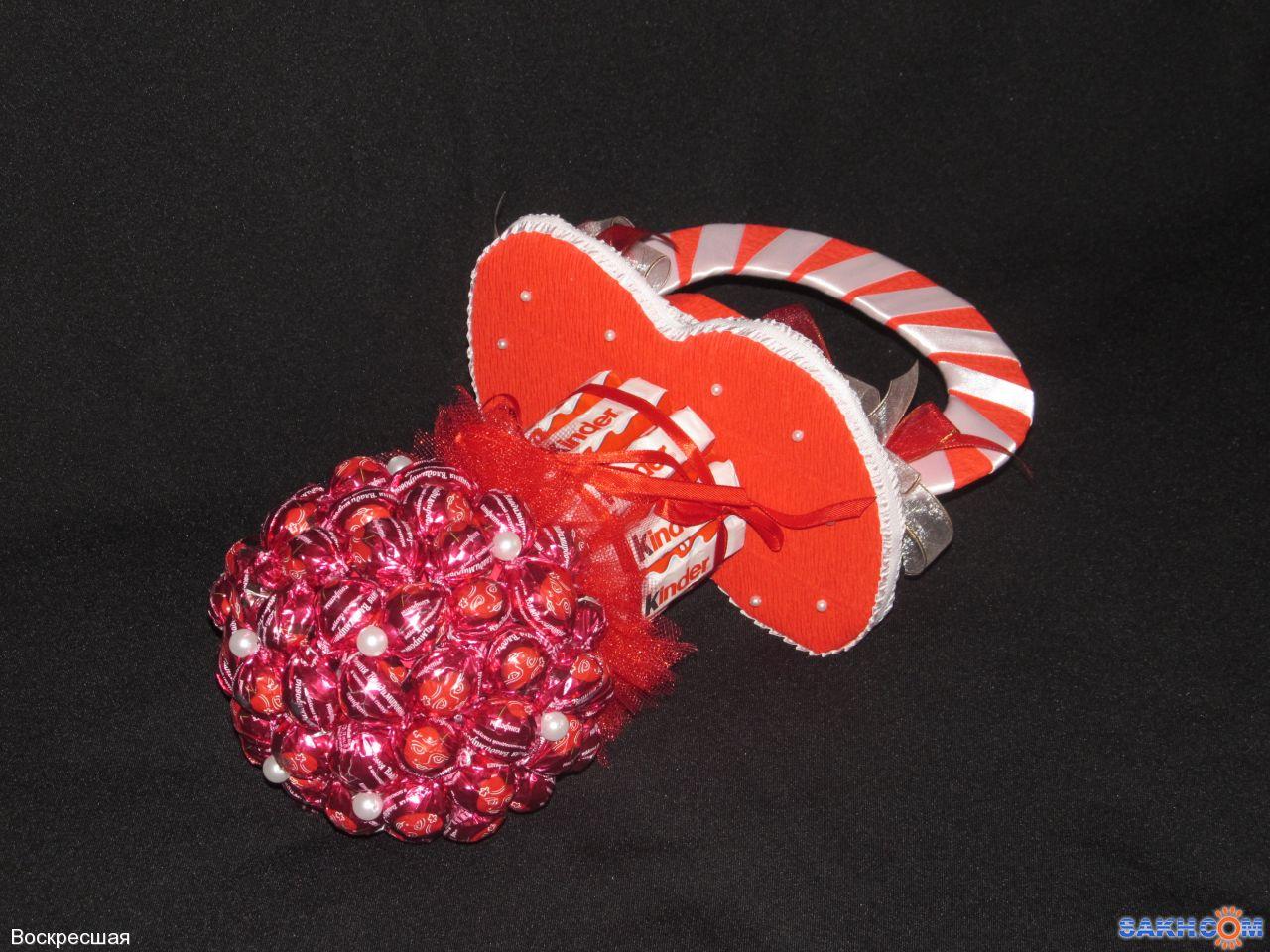 Вишня из конфет с пошаговым