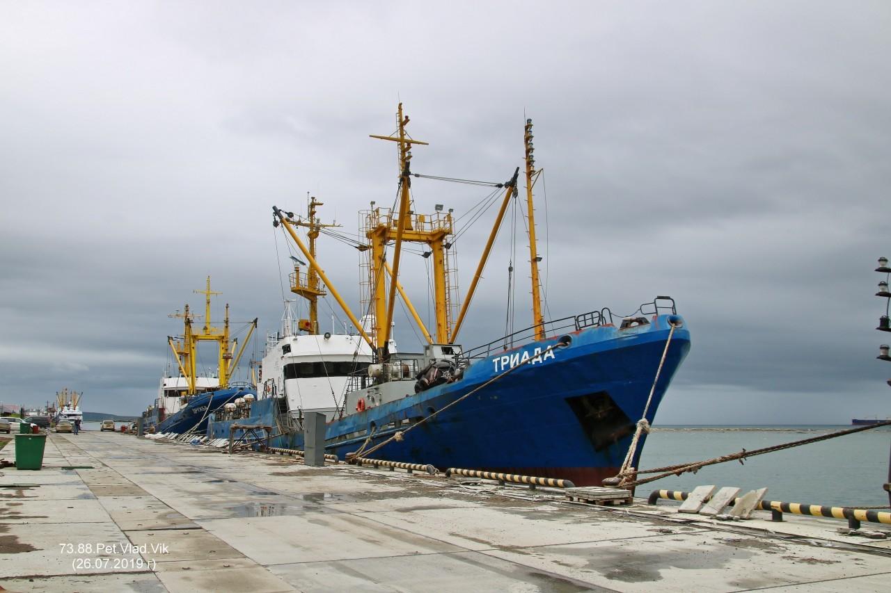 7388PetVladVik: ТРИАДА.    (IMO  9101869,  MMSI  273812060,  CS  UFKE).   Порт Невельск.
