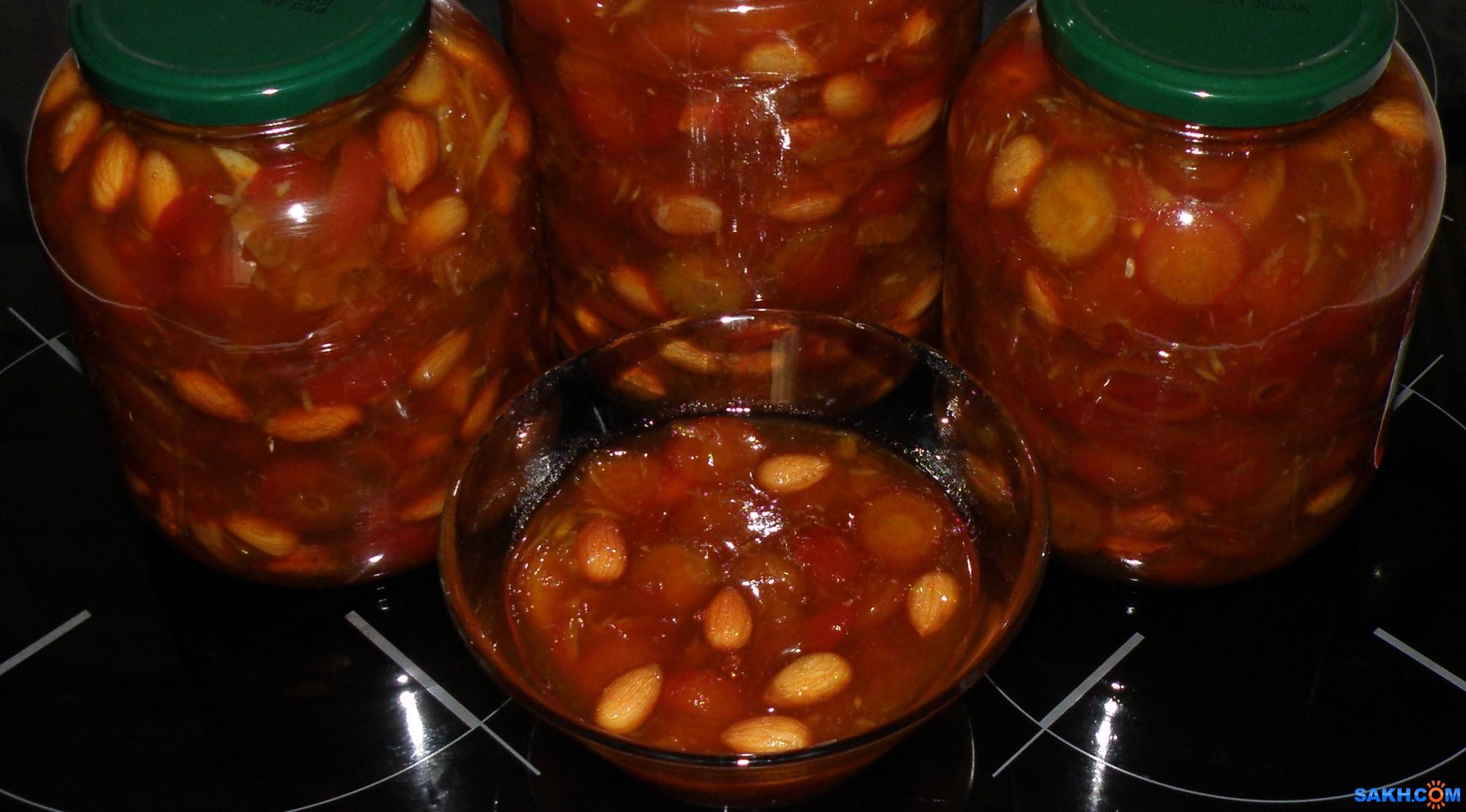 tasya: Варенье из морского шиповника, апельсина и миндаля.