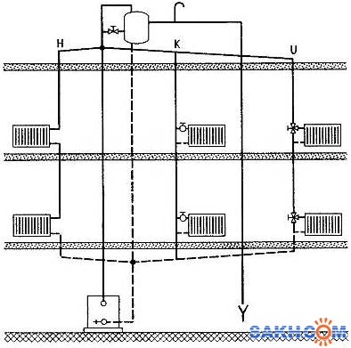 схема отопления частного дома - Практическая схемотехника.