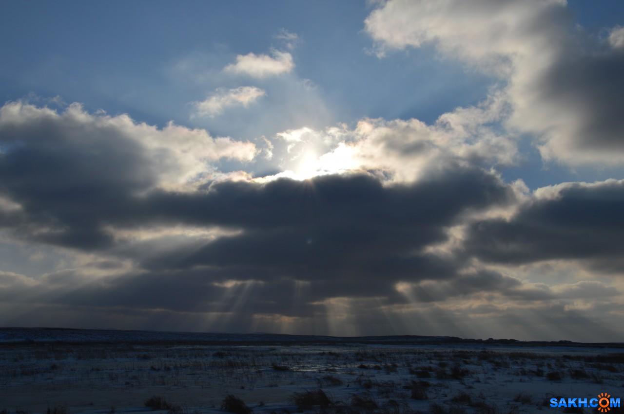 Маргарита: Солнце пробивается сквозь тучи. Село Ильинское
