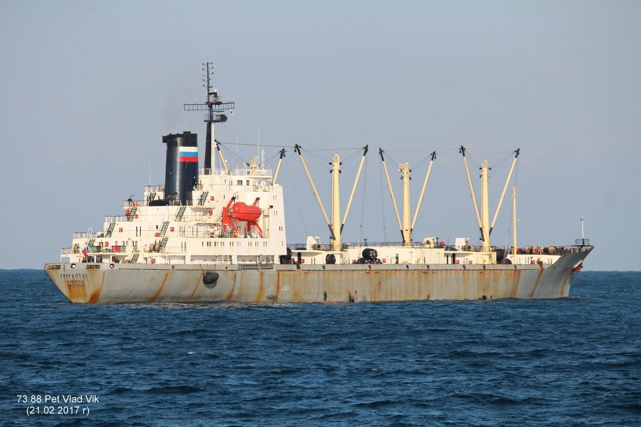 7388PetVladVik: ГИБРАЛТАР.   (Бывший ПРОЛИВ ВИЛЬКИЦКОГО.    IMO  7642663,  MMSI  273511500,  CS  UFNO).  Порт Пусан. Судно утилизировано в 2018 году в Индии.