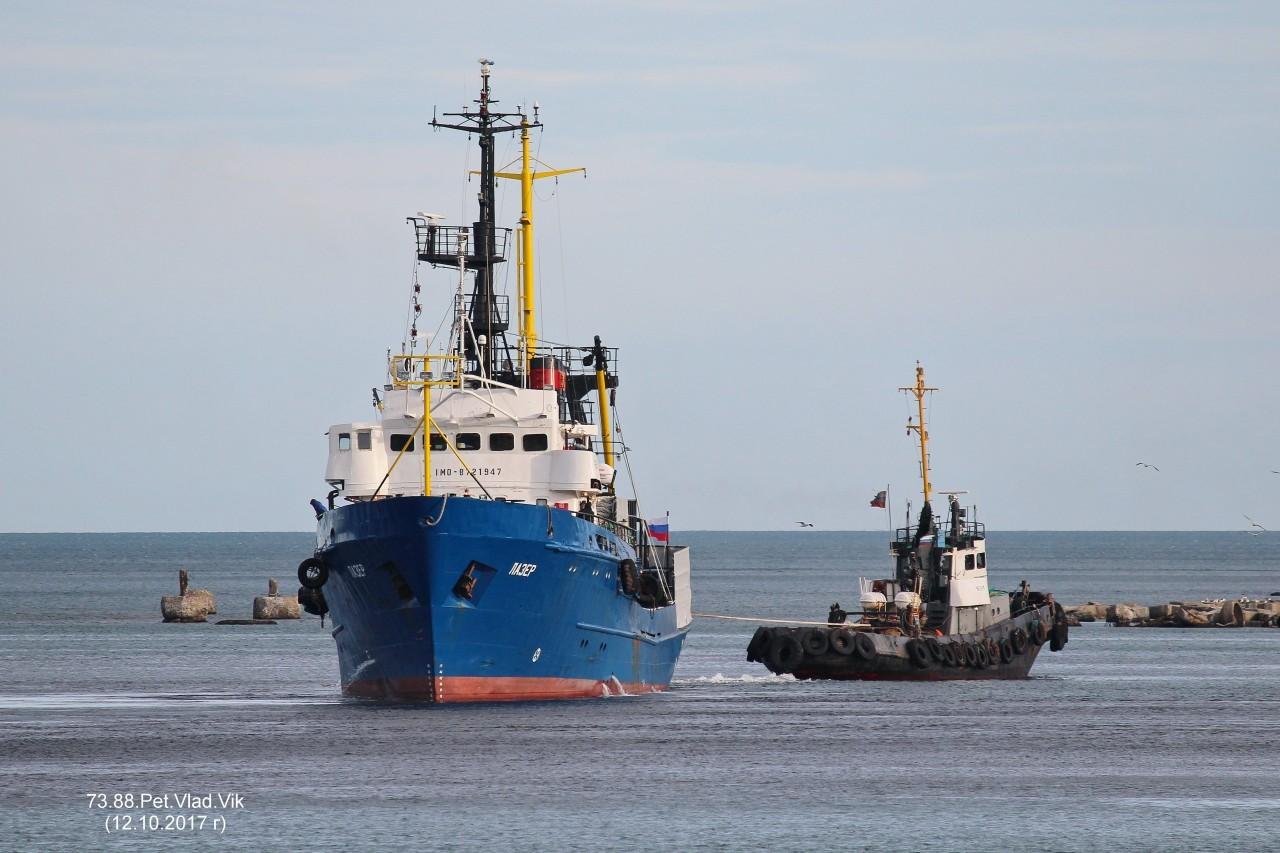 7388PetVladVik: ЛАЗЕР.    (IMO  8721947,   MMSI 273563800,  CS UGHM).  Порт Невельск.