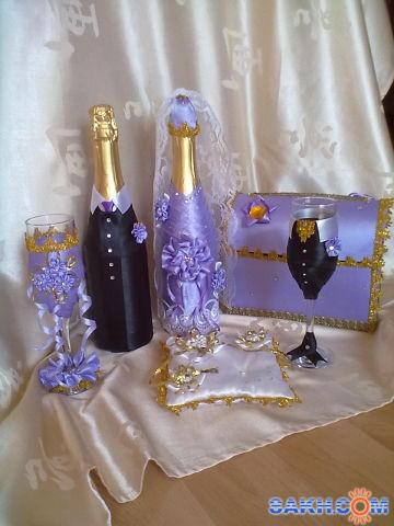 """мышка100: набор свадебных аксессуаров  """"сирень"""""""