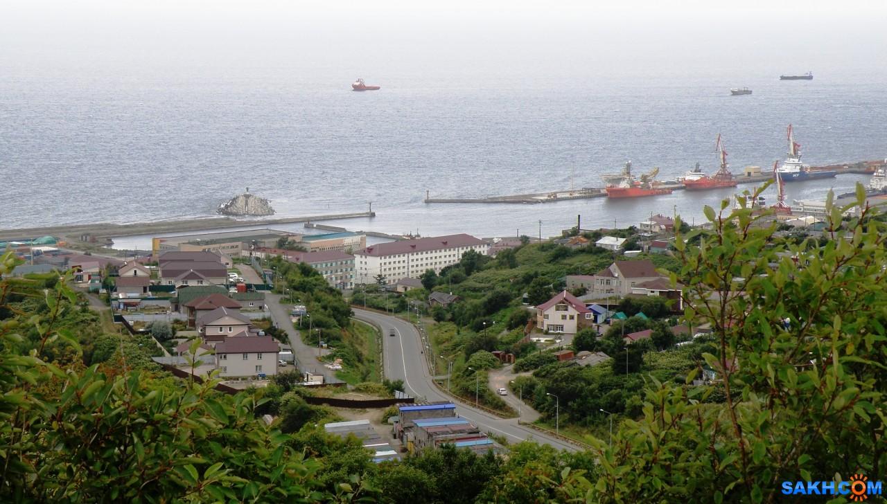 tasya: Объездная дорога на ул.Первомайскую и видно створы Западного порта