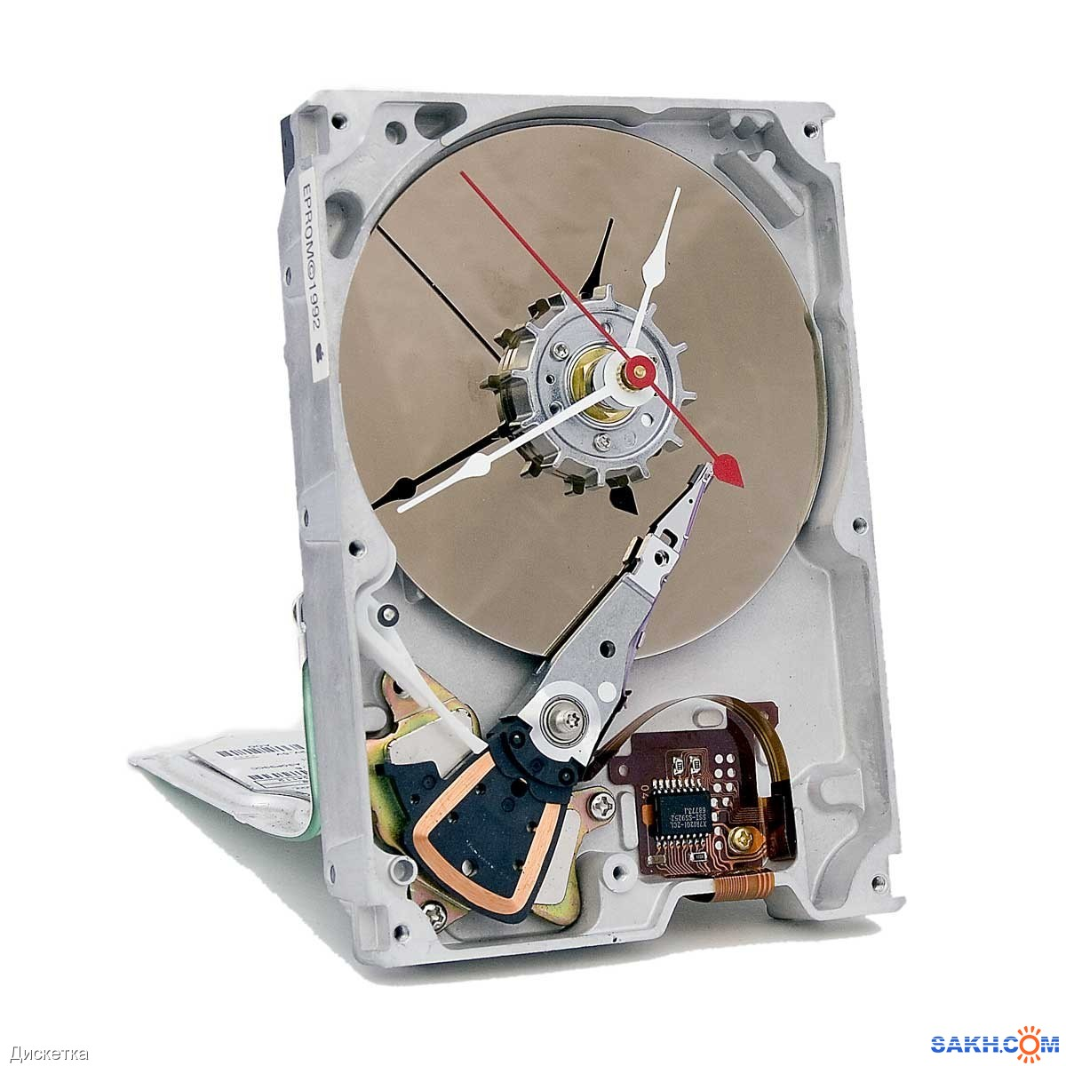Поделка из дисков жёсткий диск