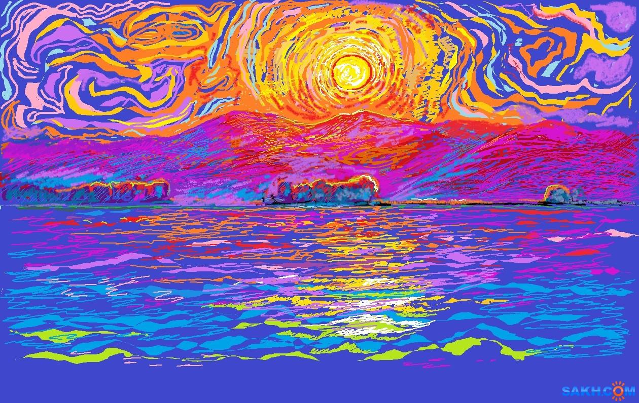 MRAK: закат морской 20210404