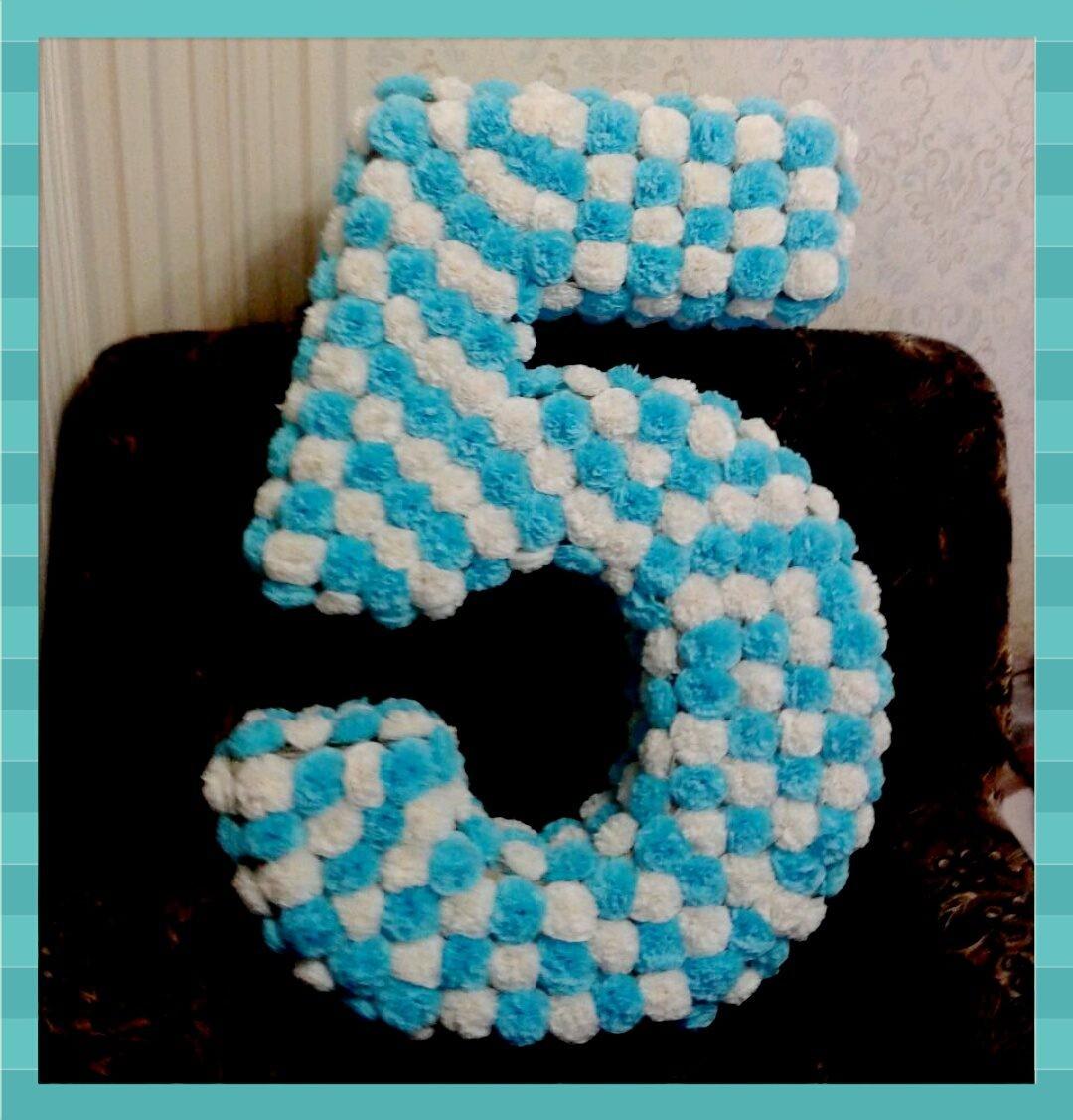 Цифра 5 на день рождения из салфеток пошагово