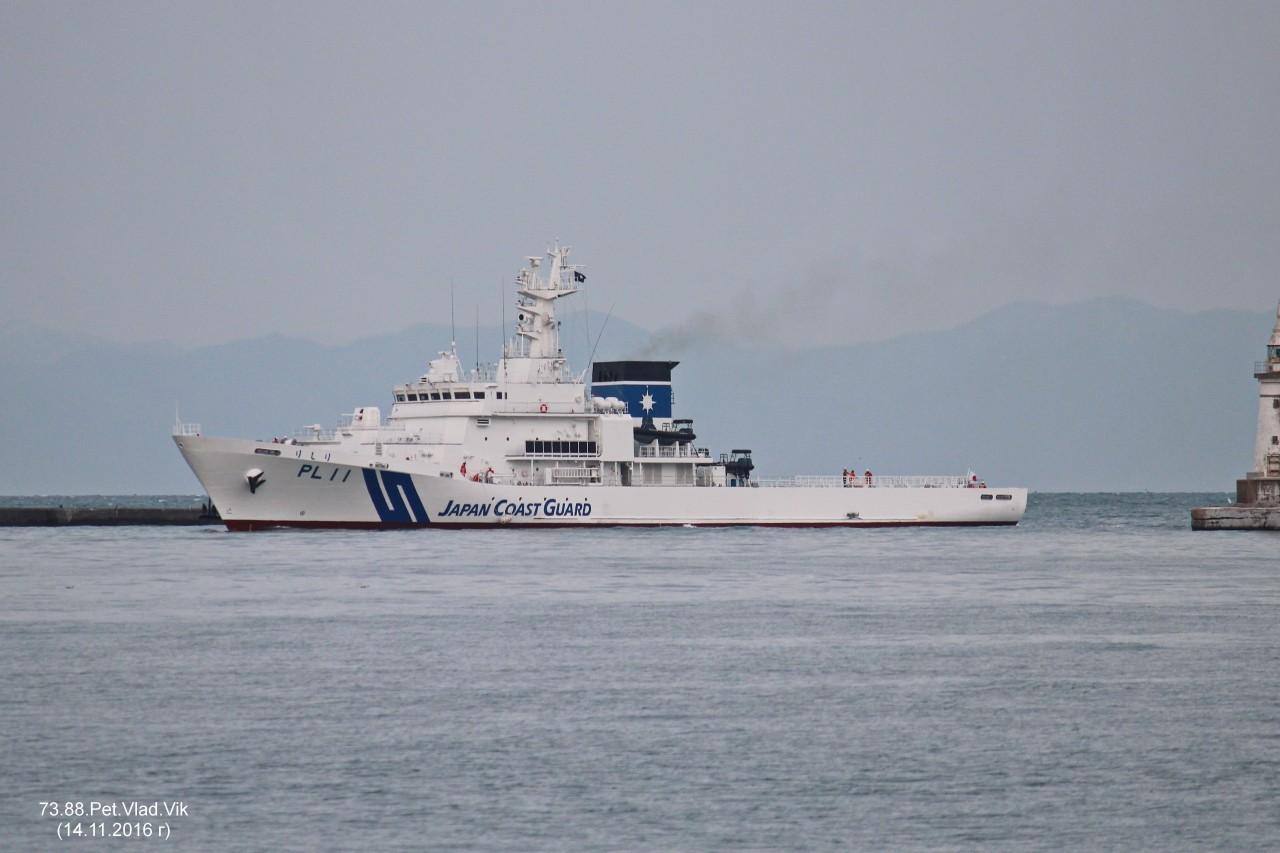 7388PetVladVik: PL 11.    (Береговая охрана Японии).   Порт Отару.