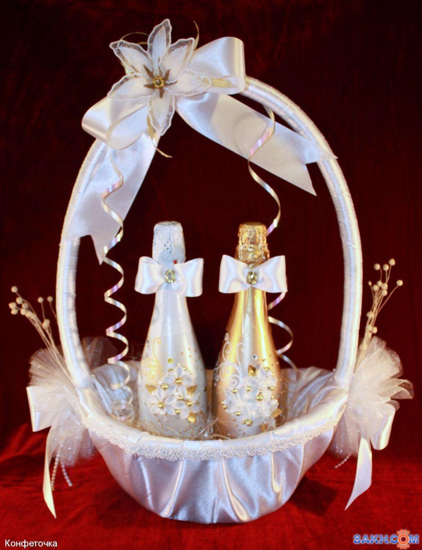 Свадебные корзины для своими руками