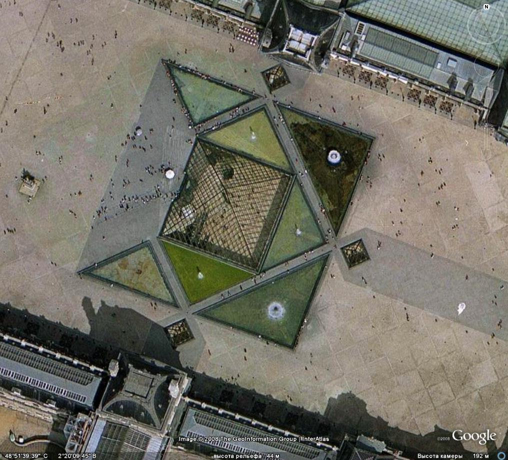 Millenium100: Лувр, стеклянная пирамида