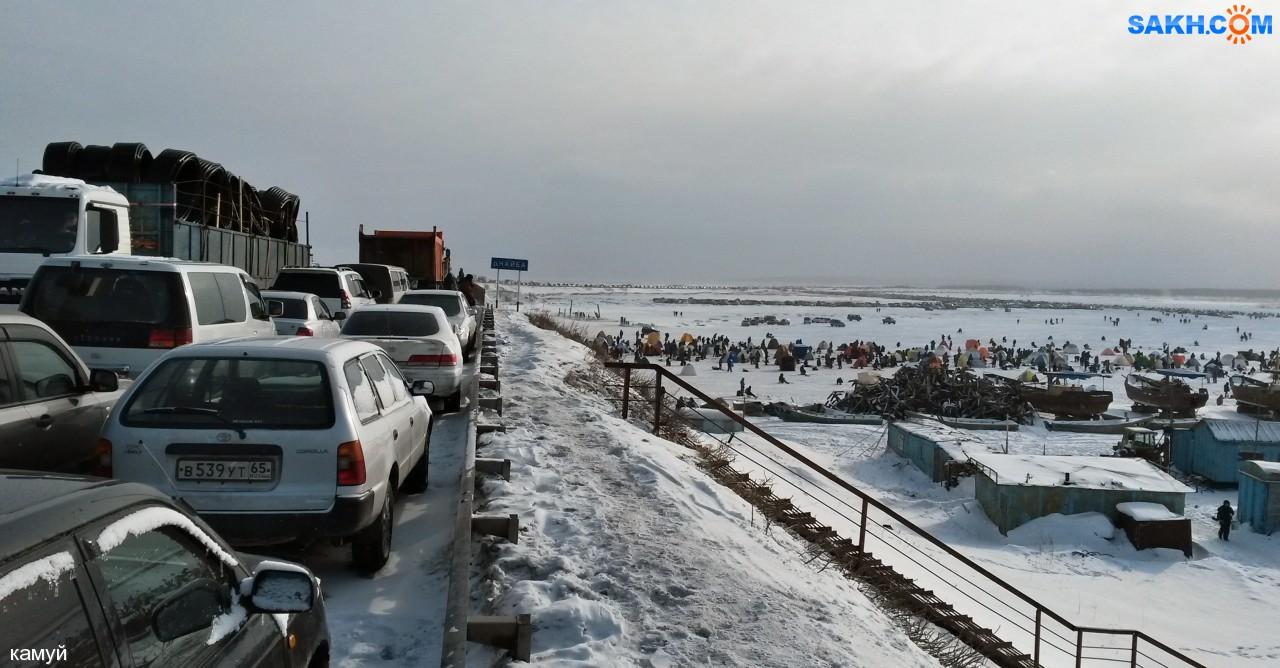 камуй: На мосту через Найбу 31.01.2015г. 11-30.