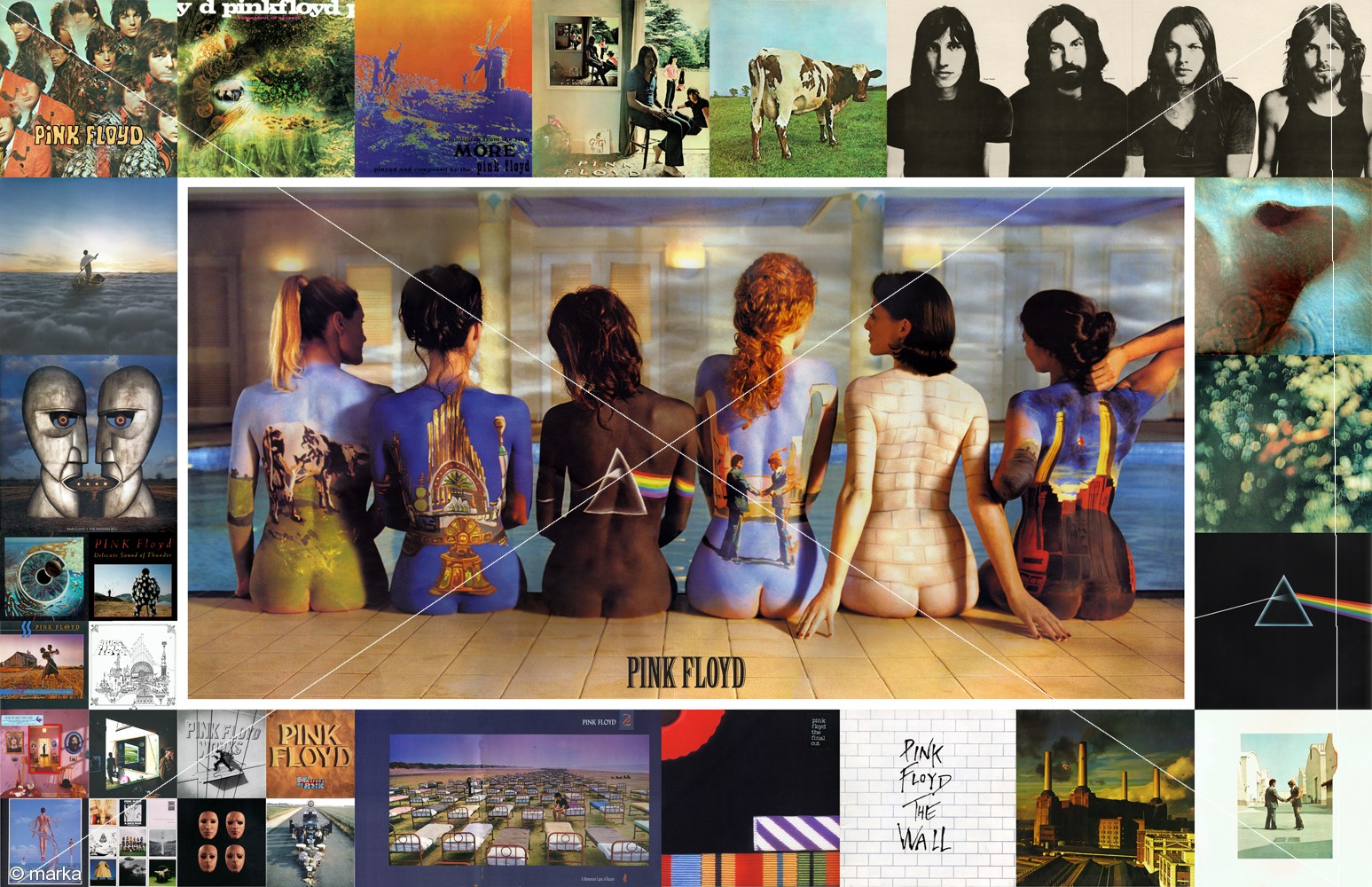Body art, the pink floyd back catalogue poster, and objectification