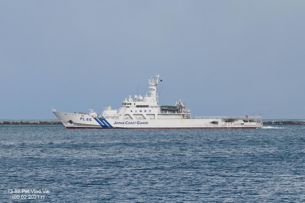 7388PetVladVik: PL 65.     Береговая  охрана Японии.  Порт Отару.