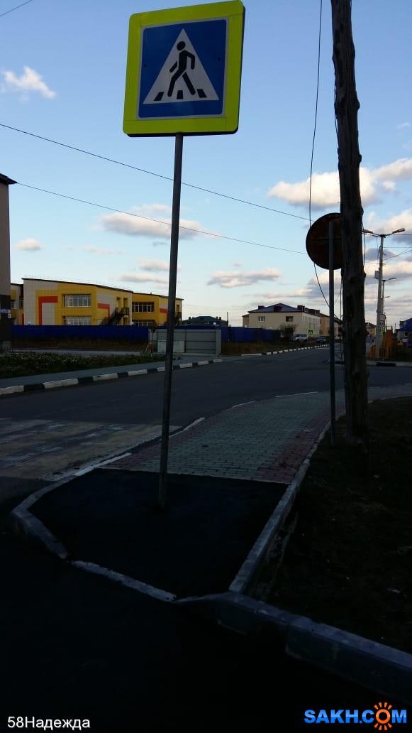 58Надежда: дорожный знак в Красногорске