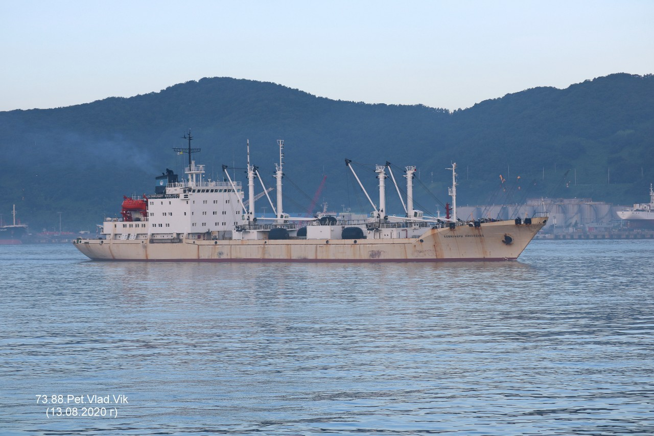 7388PetVladVik: КОММУНАРЫ  НИКОЛАЕВА.   (IMO  8729183,  MMSI  273420240,  CS  UERA).   Порт  Пусан.
