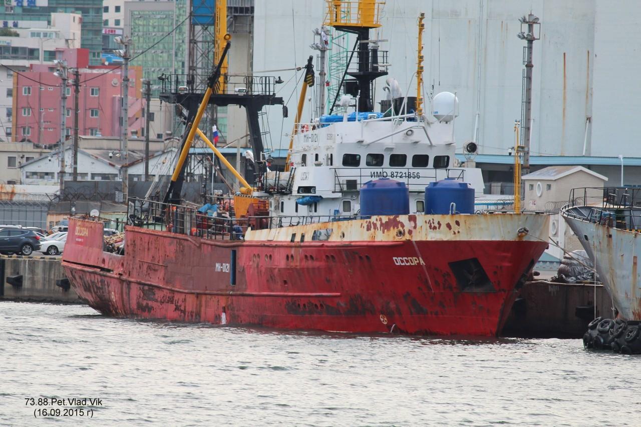 7388PetVladVik: ОССОРА.     (IMO  8721856,  MMSI  273845610,  CS UDKI).   Порт  Пусан.