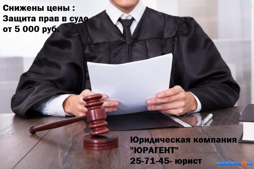 Защита в суде: цена от 5000 руб + возмещение расходов = бесплатно