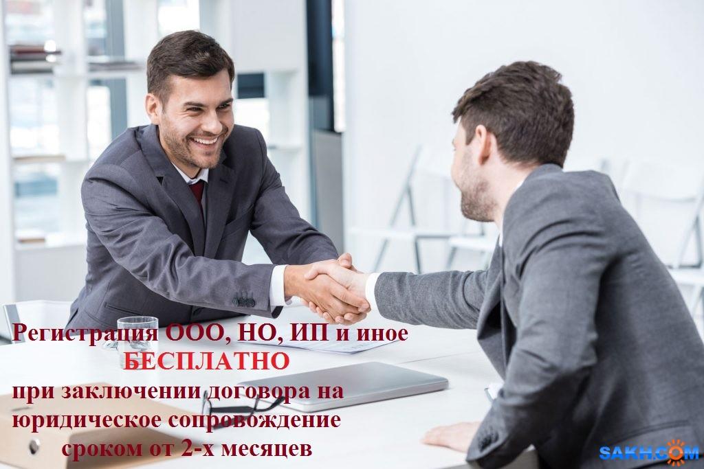 Бесплатная регистрация ООО, НО, ИП и другое