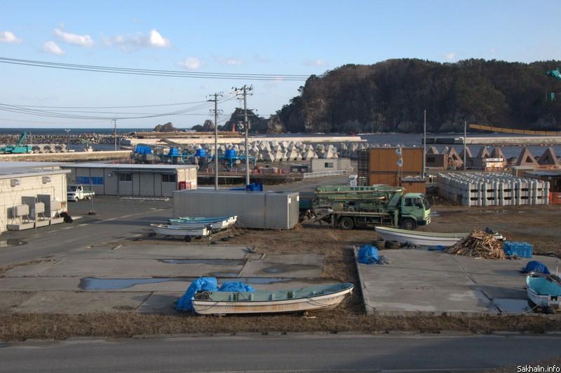Вид на бухту в Мияко, район Таро
