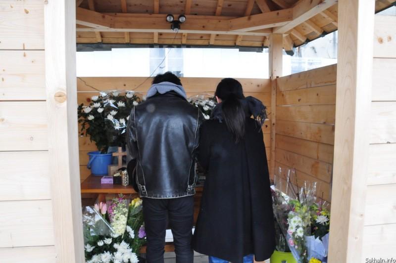 Мемориальная комната, где вспоминают жертв 11 марта 2011 года. Оцути