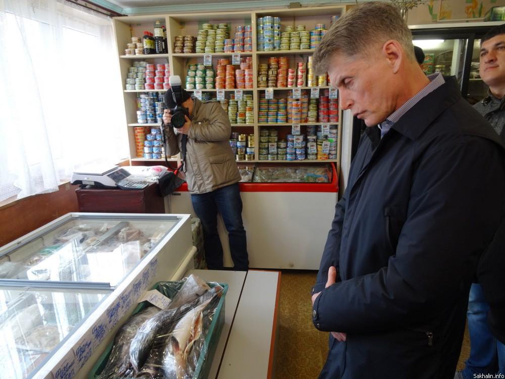 Олег Кожемяко грустит над дорогой сахалинской рыбой