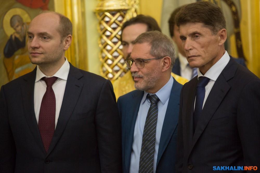 Александр Галушка, Михаил Леонтьев иОлег Кожемяко