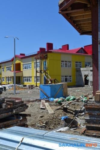 Строительство школы-детсада вМалокурильском