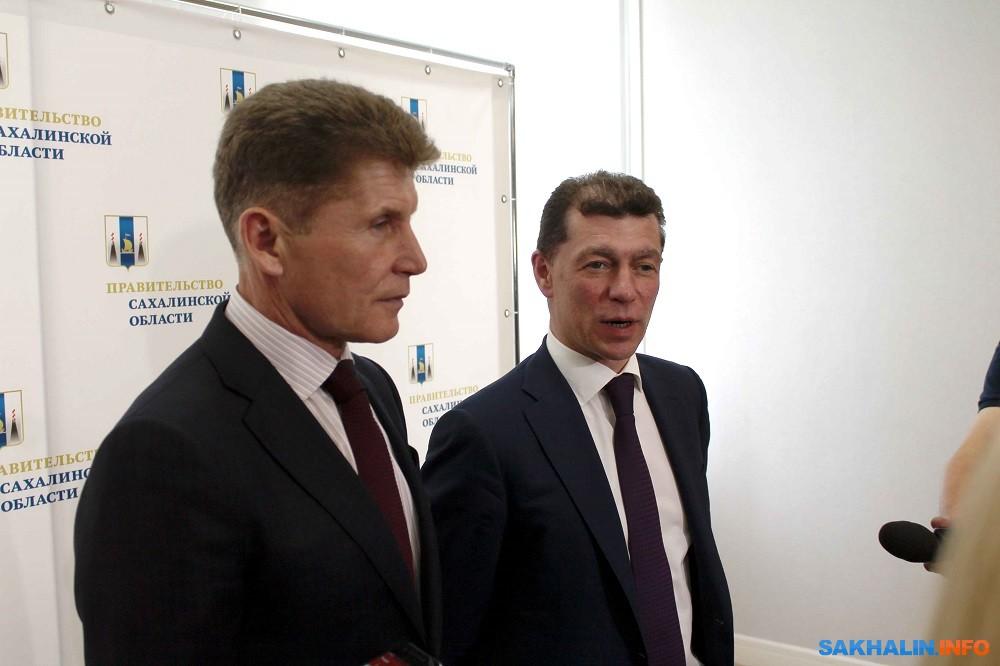 Олег Кожемяко и Максим Топилин