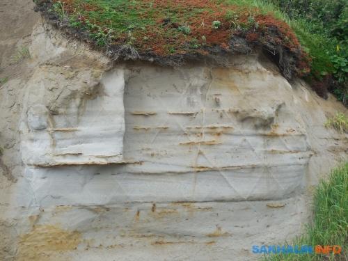 Регулярная система трещин, возникшая воднородной осадочной толще, поражает своими ровными линиями