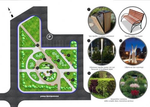 Проект площади дляпроведения культурно-массовых мероприятий вСоловьевке