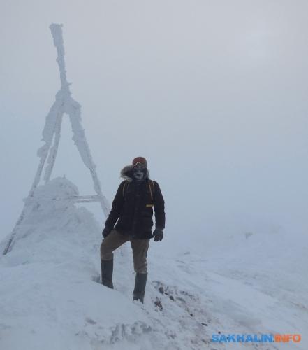 Автор навершине горы Иркир