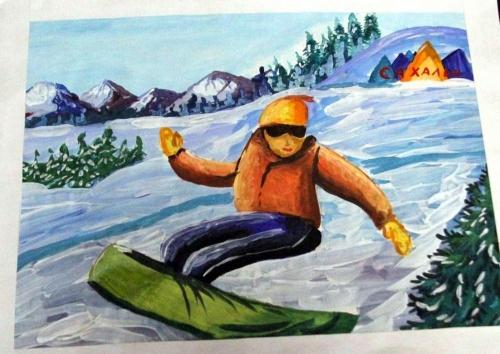 2. Даша Быкова, Сноубордист, 10 лет