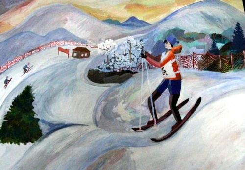 7. Алиса Лежнева, Лыжник, 10 лет