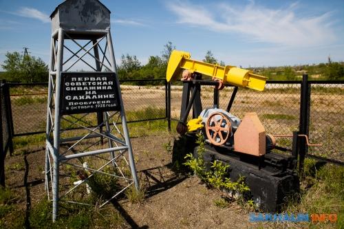 Первая советская нефтяная качалка насевере Сахалина