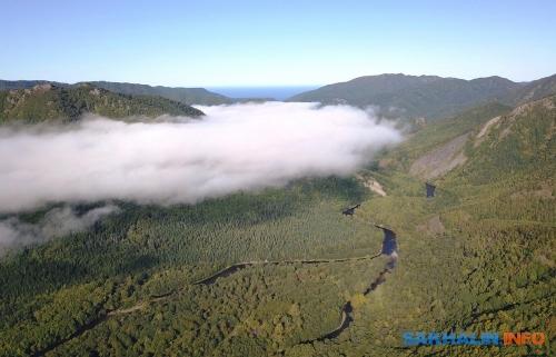 Долина реки Агнево. Выше наснимке слияние реки Агнево иреки Владимировки