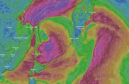 Иллюстрация ссайта windy.com