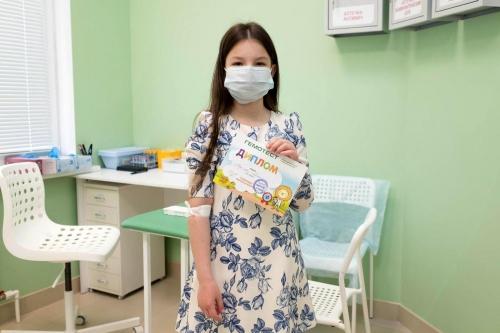 Детям после забора крови выдают диплом захрабрость