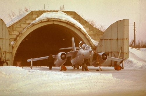 Як-28У нааэродроме Смирных. 1980 год, фото Г. Чергизова