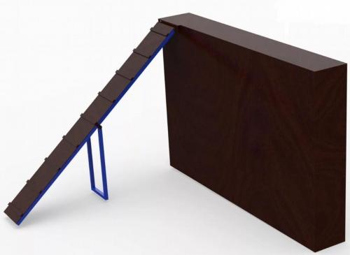 Забор снаклонной доской
