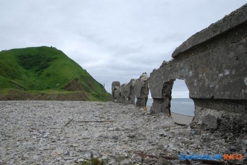 Остатки японского моста вШебунино