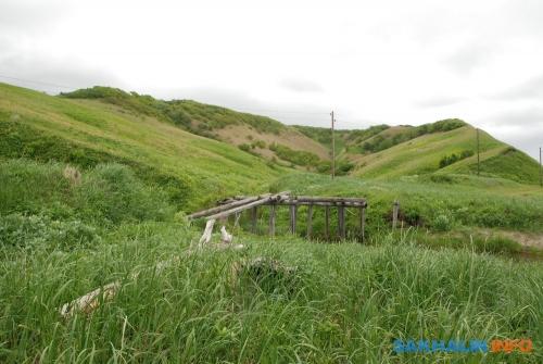 Разрушенный мост вустье Китосии