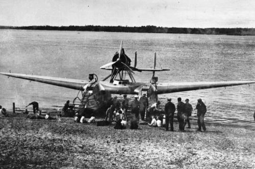 "Гидросамолет ""Савойя-55"", север Сахалина, 1934 год"