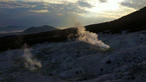 Фумарольное поле вулкана Менделеева