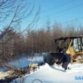 В Углегорске началось строительство лыжной базы