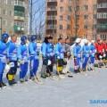 В Поронайске стартовал турнир похоккею смячом, посвященный Днюзащитника Отечества