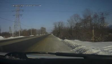 Toyota Mark II стремя молодыми людьми упала вкювет между Троицким иЮжно-Сахалинском