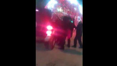 В Охев новогоднюю ночь водитель внедорожника решил покататься поцентральной площади