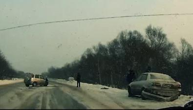 ДТП сучастием трех автомобилей произошло натрассе Южно-Сахалинск— Холмск